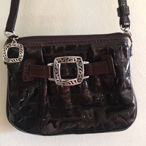 Brighton Croc Patent Leather Wallet Cross Body